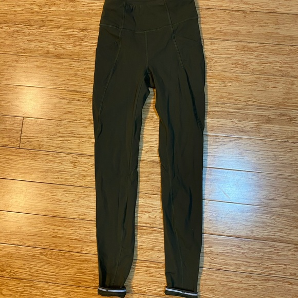 lululemon athletica Pants - Lululemon dark olive leggings